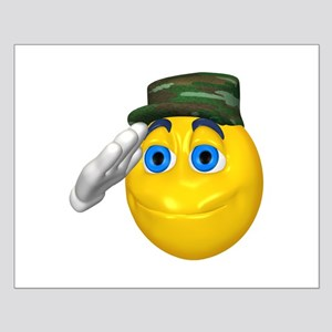 Saluting Soldier Face Small Poster