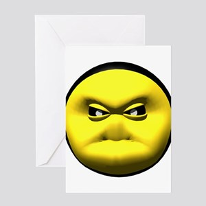 Big Meanie Face Greeting Card