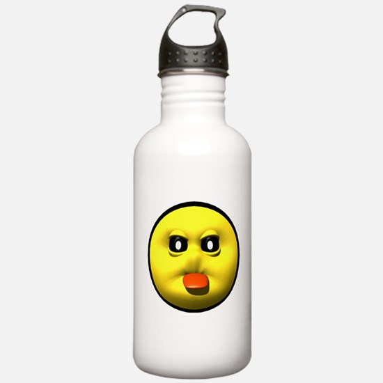 Tongue Out Face Water Bottle
