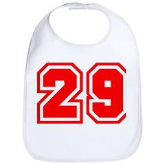 Varsity Uniform Number 29 (Red) Bib