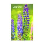 Lupines Sticker (Rectangle)