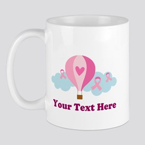 Pink Ribbon Custom Balloon Mug