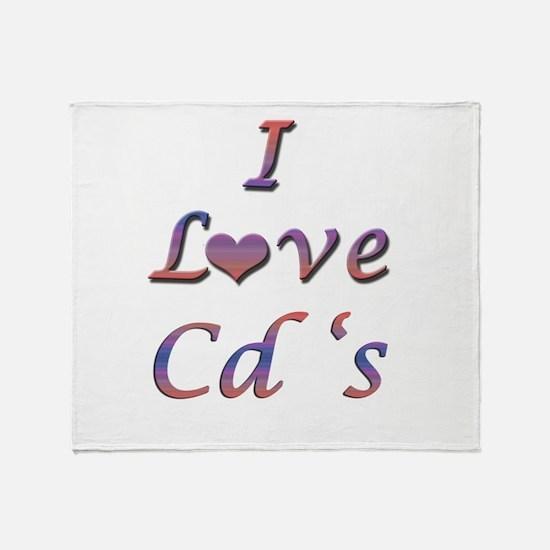 I Love Cd's Throw Blanket