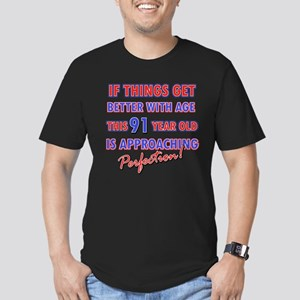 Funny 91st Birthdy designs Men's Fitted T-Shirt (d
