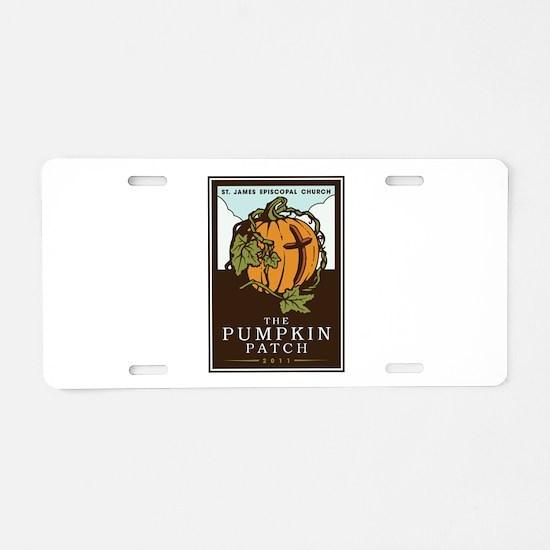 St. James Episcopal Pumpkin Patch Aluminum License
