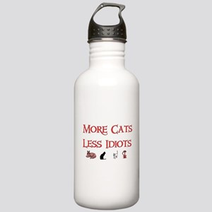 More Cats Less Idiots Stainless Water Bottle 1.0L
