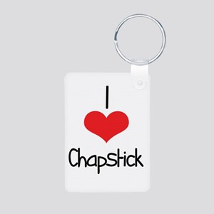 Chapstick Aluminum Photo Keychain
