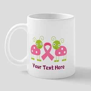 Personalized Breast Cancer Ladybug Mug