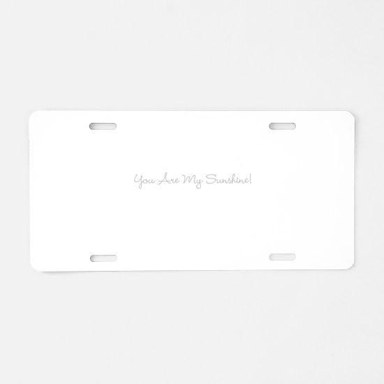 Just Words Aluminum License Plate