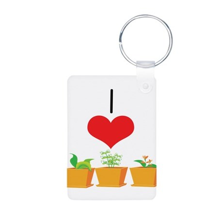Plants Aluminum Photo Keychain