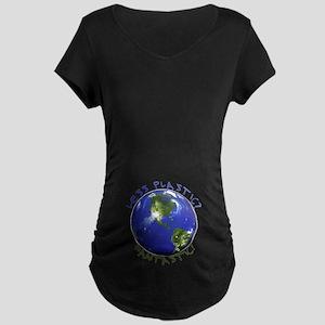 Less Plastic? Fantastic! Maternity Dark T-Shirt