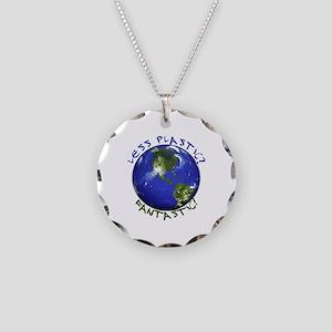 Less Plastic? Fantastic! Necklace Circle Charm