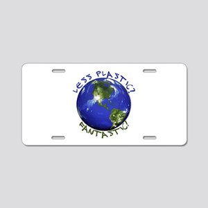 Less Plastic? Fantastic! Aluminum License Plate
