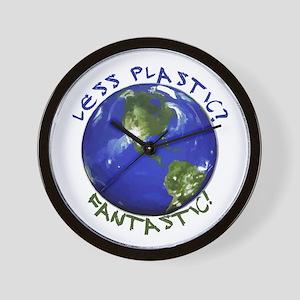 Less Plastic? Fantastic! Wall Clock