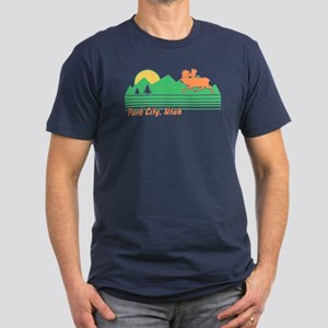Park City Utah Men's Fitted T-Shirt (dark)