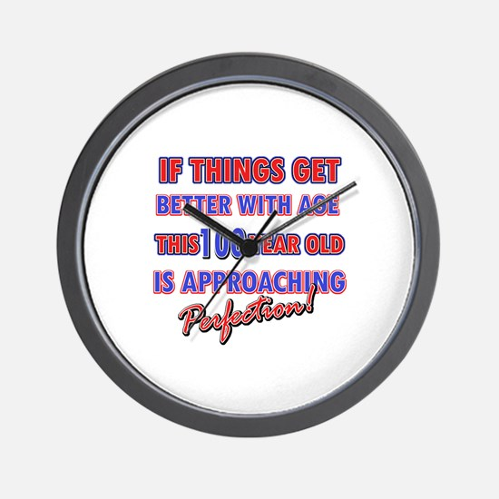 Funny 100th Birthdy designs Wall Clock