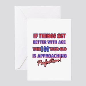 Funny 100th Birthdy designs Greeting Card