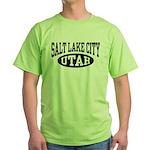 Salt Lake City Utah Green T-Shirt