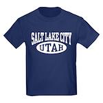 Salt Lake City Utah Kids Dark T-Shirt