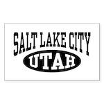 Salt Lake City Utah Sticker (Rectangle)