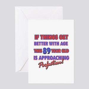 Funny 99th Birthdy designs Greeting Card