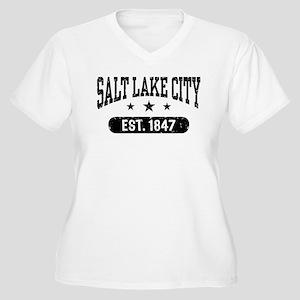 Salt Lake City Utah Women's Plus Size V-Neck T-Shi