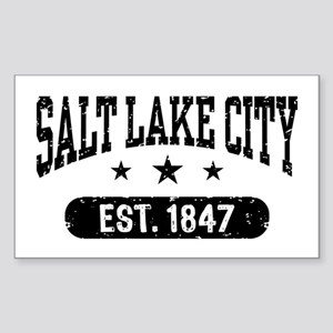 Salt Lake City Utah Sticker (Rectangle)