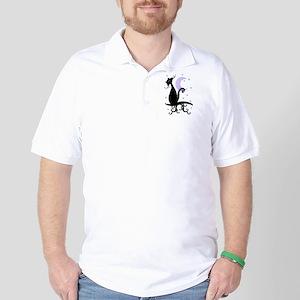 Midnight Kitty Golf Shirt