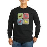 Chinese Crested Long Sleeve Dark T-Shirt