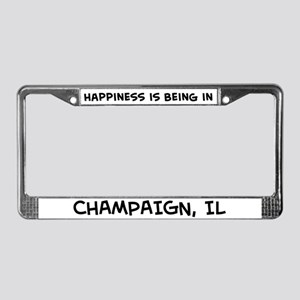 Happiness is Champaign License Plate Frame