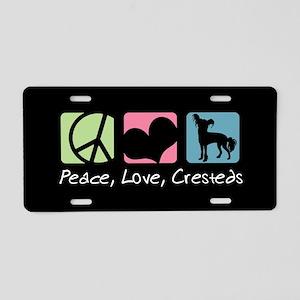 Peace, Love, Cresteds Aluminum License Plate