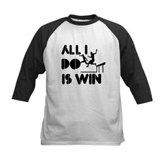 All I do is Win Steeplechase Kids Baseball Jersey