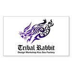 Tribal rabbit Sticker (Rectangle 50 pk)