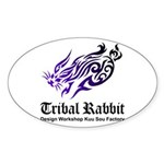 Tribal rabbit Sticker (Oval 10 pk)