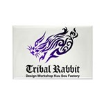 Tribal rabbit Rectangle Magnet (10 pack)