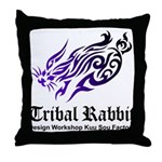 Tribal rabbit Throw Pillow