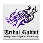 Tribal rabbit Tile Coaster