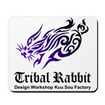 Tribal rabbit Mousepad