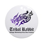 Tribal rabbit Ornament (Round)