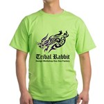 Tribal rabbit Green T-Shirt
