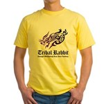 Tribal rabbit Yellow T-Shirt