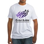 Tribal rabbit Fitted T-Shirt