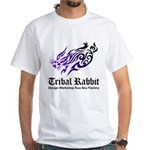Tribal rabbit White T-Shirt