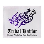 Tribal rabbit Throw Blanket