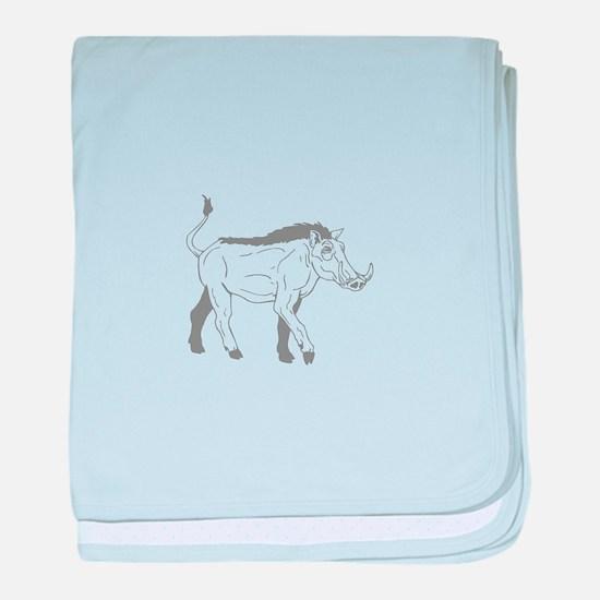 Warthogs baby blanket