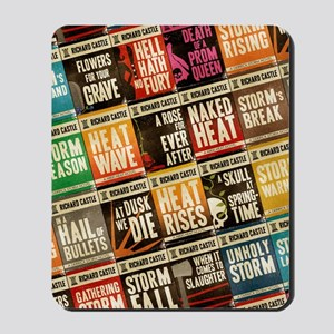 Castle Retro Novel Covers Collage Mousepad