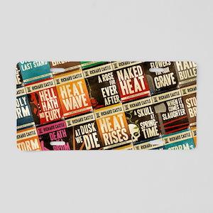 Castle Retro Novel Covers Collage Aluminum License