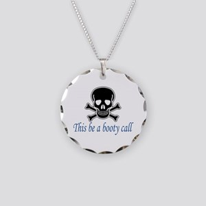 Pirate Booty Call Necklace Circle Charm