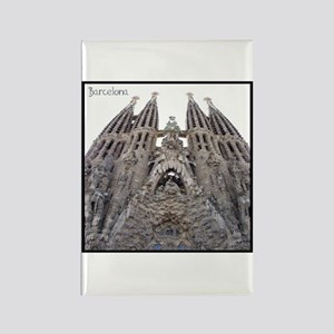 Barcelona Sagrada Rectangle Magnet