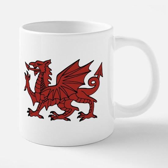 Flint Dragon 20 oz Ceramic Mega Mug